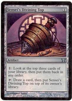 Magic the Gathering Champs of Kamigawa Single Sensei's Divining Top Foil - SLIGHT PLAY (SP)