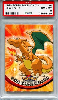 1999 Topps Pokemon TV Charizard #6 - PSA 8 *26856129*