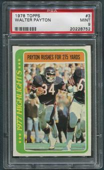 1978 Topps Football #3 Walter Payton Highlights PSA 9 (MINT)