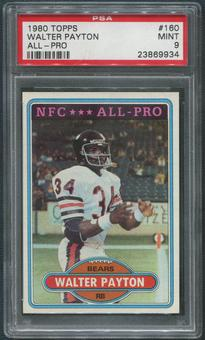 1980 Topps Football #160 Walter Payton All Pro PSA 9 (MINT)