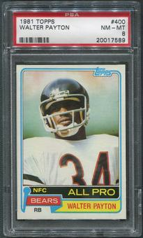 1981 Topps Football #400 Walter Payton PSA 8 (NM-MT)