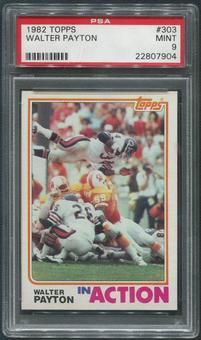 1982 Topps Football #303 Walter Payton In Action PSA 9 (MINT)