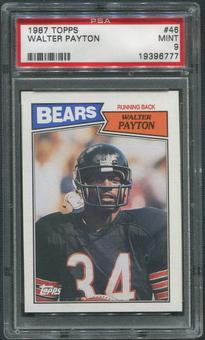 1987 Topps Football #46 Walter Payton PSA 9 (MINT)