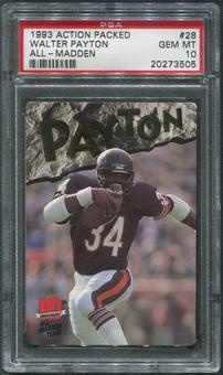 1993 Action Packed All-Madden Football #28 Walter Payton PSA 10 (GEM MT)