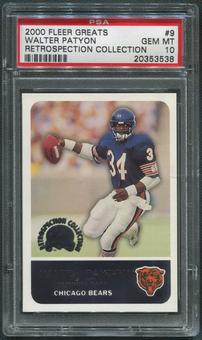 2000 Fleer Greats Football #9 Walter Payton PSA 10 (GEM MT)