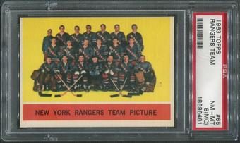 1963/64 Topps Hockey #65 Rangers Team PSA 8 (NM-MT) (MC)