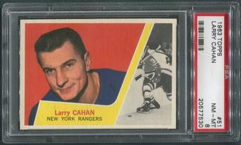 1963/64 Topps Hockey #51 Larry Cahan PSA 8 (NM-MT)