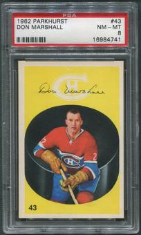 1962/63 Parkhurst Hockey #43 Don Marshall PSA 8 (NM-MT)