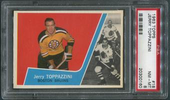 1963/64 Topps Hockey #18 Jerry Toppazzini PSA 8 (NM-MT)