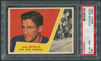 1963/64 Topps Hockey #63 Jean Ratelle PSA 8 (NM-MT)