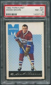 1962/63 Parkhurst Hockey #42 Dickie Moore PSA 8 (NM-MT)
