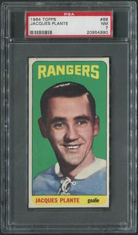 1964/65 Topps Hockey #68 Jacques Plante PSA 7 (NM)
