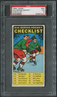 1964/65 Topps Hockey #55 2nd Checklist SP PSA 3 (VG)