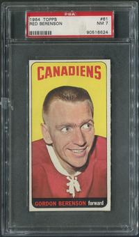 1964/65 Topps Hockey #61 Red Berenson PSA 7 (NM)