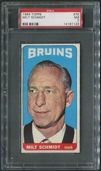 1964/65 Topps Hockey #70 Milt Schmidt CO PSA 7 (NM)