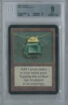 Magic the Gathering Alpha Mox Emerald Single BGS 9 (9, 8.5, 9.5, 9)
