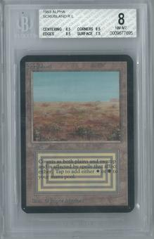 Magic the Gathering Alpha Scrubland Single BGS 8 (8.5, 8.5, 8.5, 7.5)
