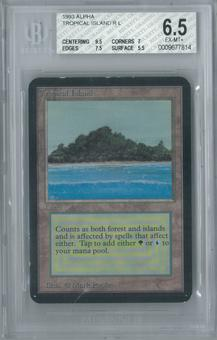Magic the Gathering Alpha Tropical Island Single BGS 6.5 (9.5, 7, 7.5, 5.5)