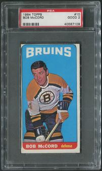 1964/65 Topps Hockey #10 Bob McCord PSA 2 (GOOD)