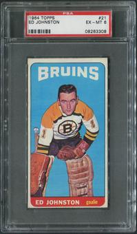 1964/65 Topps Hockey #21 Ed Johnston PSA 6 (EX-MT)