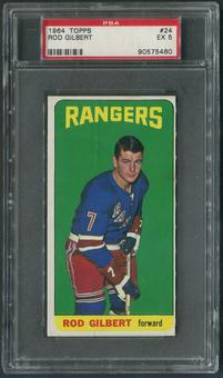 1964/65 Topps Hockey #24 Rod Gilbert PSA 5 (EX)