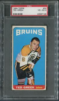 1964/65 Topps Hockey #32 Ted Green SP PSA 4 (VG-EX)