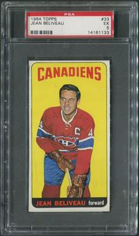 1964/65 Topps Hockey #33 Jean Beliveau SP PSA 5 (EX)