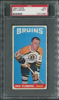 1964/65 Topps Hockey #35 Reg Fleming PSA 7 (NM)