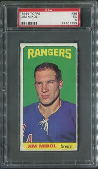 1964/65 Topps Hockey #36 Jim Mikol Rookie PSA 5 (EX)