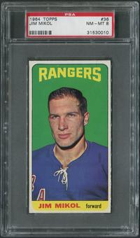 1964/65 Topps Hockey #36 Jim Mikol Rookie PSA 8 (NM-MT)