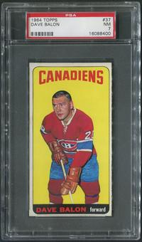 1964/65 Topps Hockey #37 Dave Balon PSA 7 (NM)