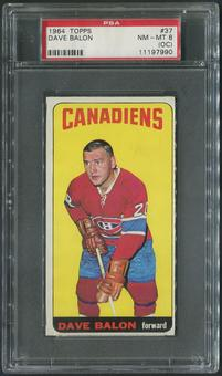 1964/65 Topps Hockey #37 Dave Balon PSA 8 (NM-MT) (OC)