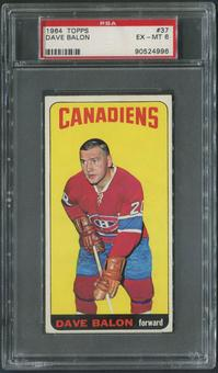 1964/65 Topps Hockey #37 Dave Balon PSA 6 (EX-MT)