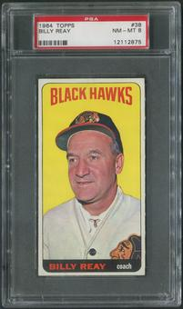 1964/65 Topps Hockey #38 Billy Reay CO PSA 8 (NM-MT)