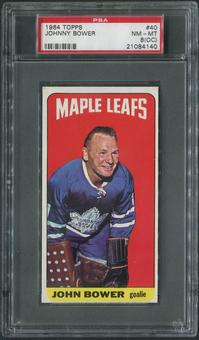 1964/65 Topps Hockey #40 Johnny Bower PSA 8 (NM-MT) (OC)