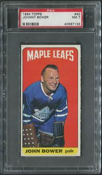 1964/65 Topps Hockey #40 Johnny Bower PSA 7 (NM)