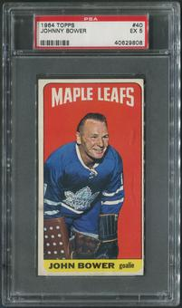 1964/65 Topps Hockey #40 Johnny Bower PSA 5 (EX)