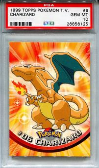 1999 Topps Pokemon TV Charizard #6 - PSA 10 *26856125*