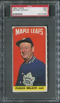 1964/65 Topps Hockey #45 Punch Imlach CO PSA 7 (NM)