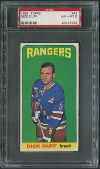 1964/65 Topps Hockey #46 Dick Duff PSA 8 (NM-MT)