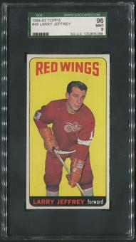 1964/65 Topps Hockey #49 Larry Jeffrey SGC 96 (MINT 9)