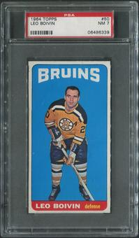 1964/65 Topps Hockey #50 Leo Boivin PSA 7 (NM)