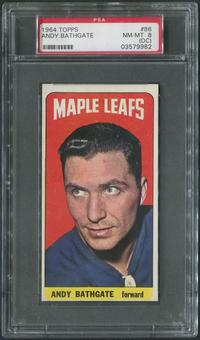1964/65 Topps Hockey #86 Andy Bathgate PSA 8 (NM-MT) (OC)