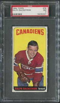 1964/65 Topps Hockey #78 Ralph Backstrom PSA 7 (NM)