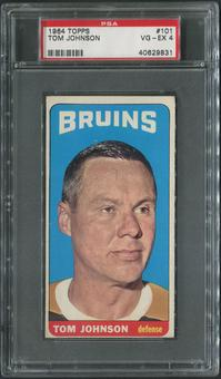 1964/65 Topps Hockey #101 Tom Johnson PSA 4 (VG-EX)