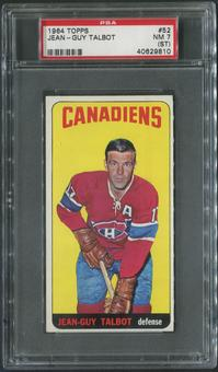 1964/65 Topps Hockey #52 Jean-Guy Talbot PSA 7 (NM) (ST)