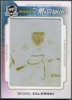 2014/15 The Cup #103 Michael Zalewski Rookie Printing Plate Upper Deck Ice Yellow #1/1