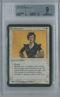 Magic the Gathering Alpha Benalish Hero Single BGS 9 (9, 8.5, 9.5, 9.5)