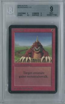 Magic the Gathering Alpha Burrowing Single BGS 9 (9, 9, 9.5, 9)