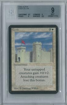 Magic the Gathering Alpha Castle Single BGS 9 (9.5, 9, 9, 8.5)